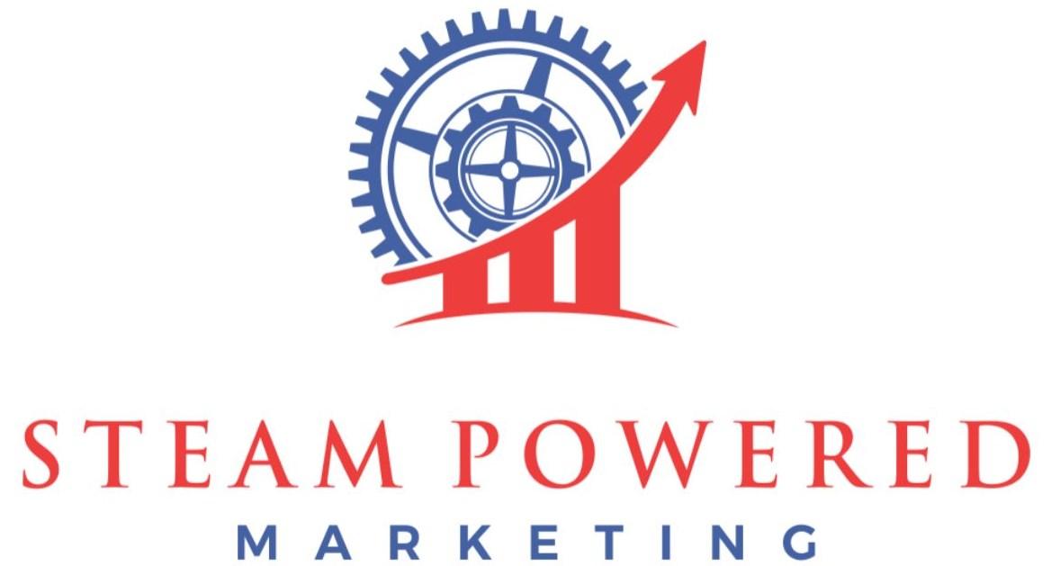 steam powered marketing logo